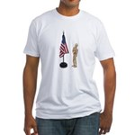Pledge to American Flag Fitted T-Shirt