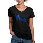 Pom Poms to Shake Women's V-Neck Dark T-Shirt