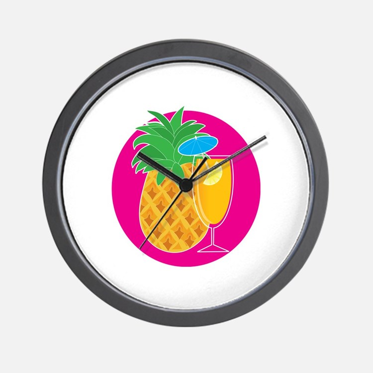 Pineapple Cocktail Wall Clock