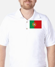 Portuguese flag Golf Shirt