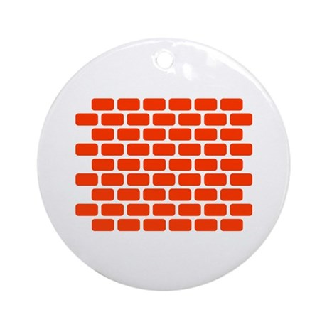 Brick wall Ornament (Round)