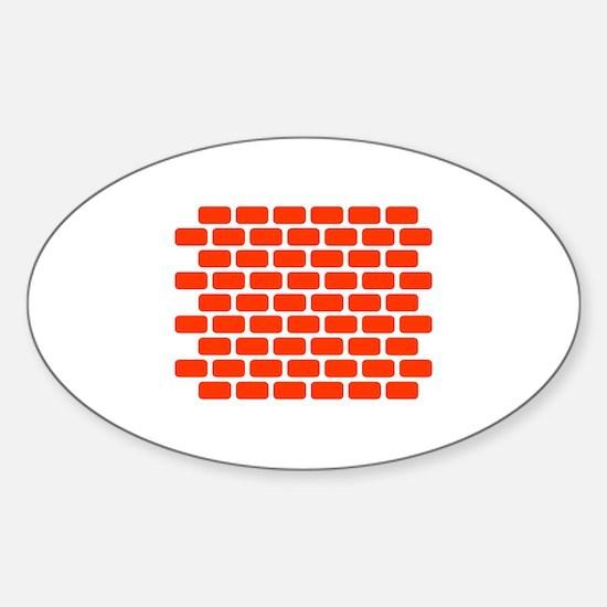 Brick wall Sticker (Oval)