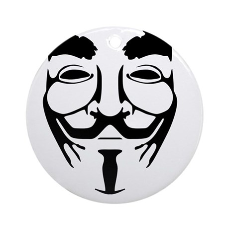 Anonymous Mask Legion Ornament (Round)