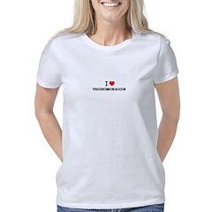 Dallas (White Pearl Dots) Junior Jersey T-shirt (d