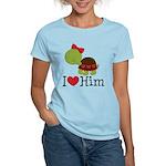 I Heart Him Couples Turtle Women's Light T-Shirt