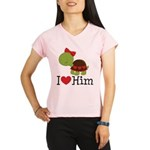 I Heart Him Couples Turtle Performance Dry T-Shirt