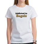 Addicted to Bagels Women's T-Shirt