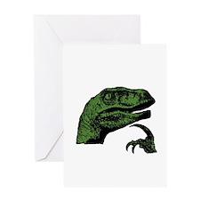 Philosoraptor Clean Greeting Card