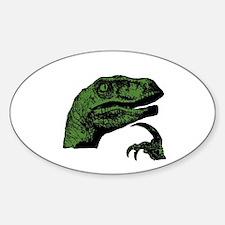 Philosoraptor Clean Sticker (Oval)
