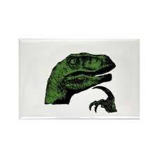Philosoraptor Clean Rectangle Magnet