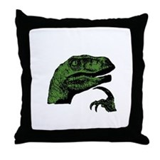 Philosoraptor Clean Throw Pillow