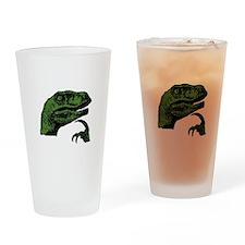 Philosoraptor Clean Drinking Glass