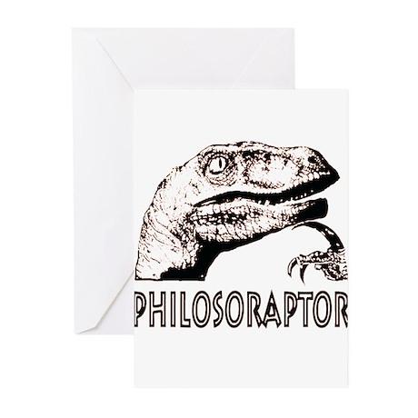 Philosoraptor Labeled Greeting Cards (Pk of 10)
