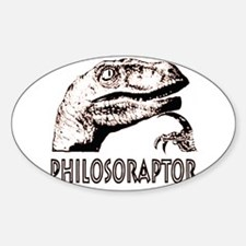 Philosoraptor Labeled Decal