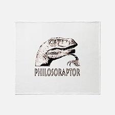 Philosoraptor Labeled Throw Blanket