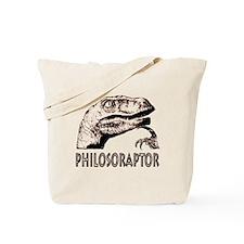 Philosoraptor Labeled Tote Bag