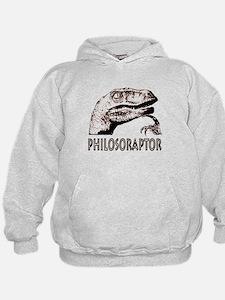 Philosoraptor Labeled Hoodie