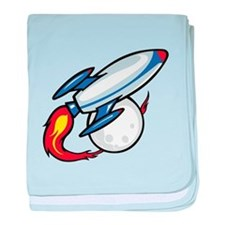 Rocket Ship baby blanket