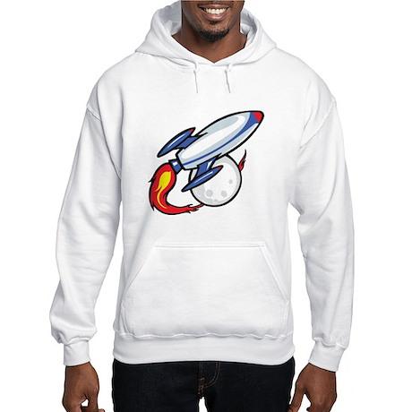 Rocket Ship Hooded Sweatshirt