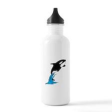 Killer Whale Jump Sports Water Bottle