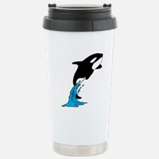 Killer Whale Jump Stainless Steel Travel Mug