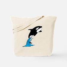 Killer Whale Jump Tote Bag