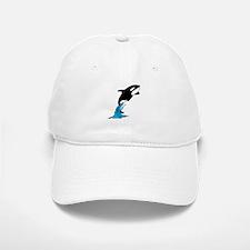 Killer Whale Jump Baseball Baseball Cap
