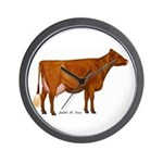Shorthorn Cow Wall Clock
