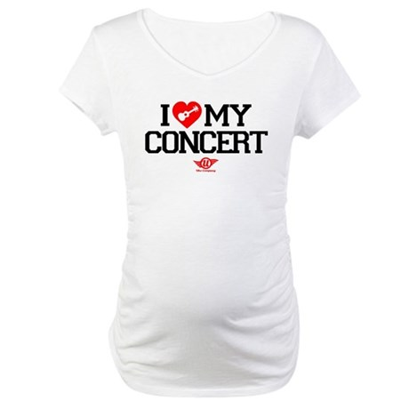 I Love My Concert Ukulele Maternity T-Shirt