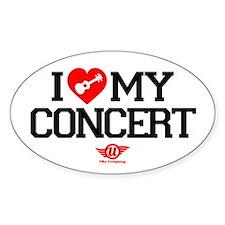 I Love My Concert Ukulele Decal