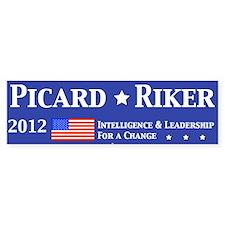 Picard Riker 2012 Election Bumper Sticker