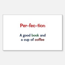 Perfection Book and Coffee Bumper Stickers