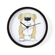 Big Nose Bulldog Wall Clock