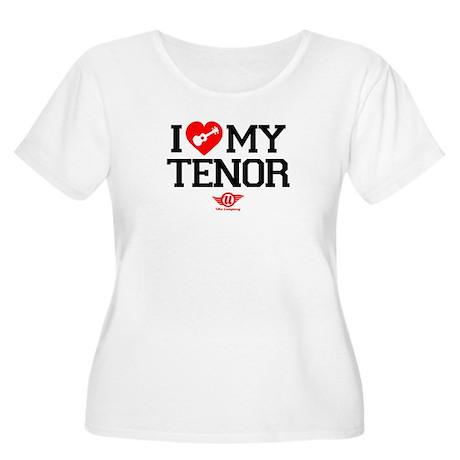 I Lover My Tenor Ukulele Women's Plus Size Scoop N