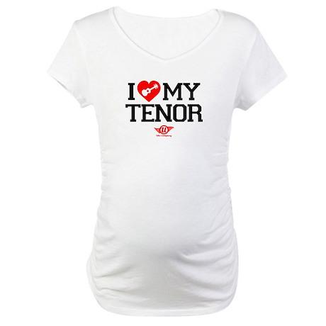 I Lover My Tenor Ukulele Maternity T-Shirt