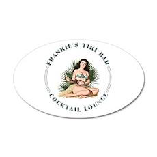 Frankie's Tiki Bar Hula Girl 3 22x14 Oval Wall Pee