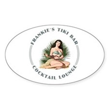 Frankie's Tiki Bar Hula Girl 3 Decal