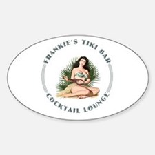 Frankie's Tiki Bar Hula Girl 3 Sticker (Oval)
