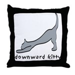 Downward Kitty Throw Pillow