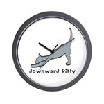 Downward Kitty Wall Clock