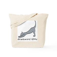 Downward Kitty Tote Bag