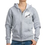 Downward Kitty Women's Zip Hoodie