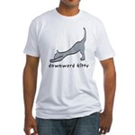 Downward Kitty Fitted T-Shirt