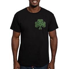 Vintage Trinity Shamrock Men's Fitted T-Shirt (dar
