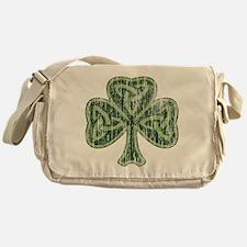 Vintage Trinity Shamrock Messenger Bag