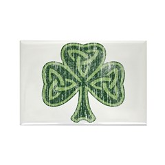Vintage Trinity Shamrock Rectangle Magnet (100 pac
