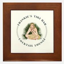 Frankie's Tiki Bar Hula Girl 4 Framed Tile