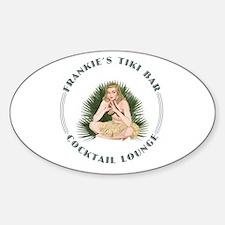 Frankie's Tiki Bar Hula Girl 4 Sticker (Oval)