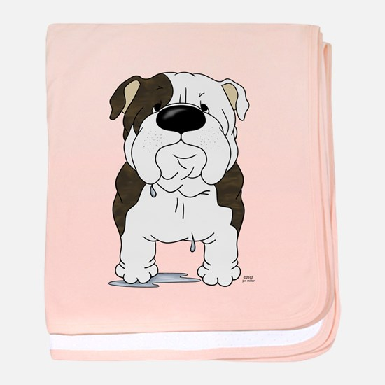 Big Nose Bulldog baby blanket