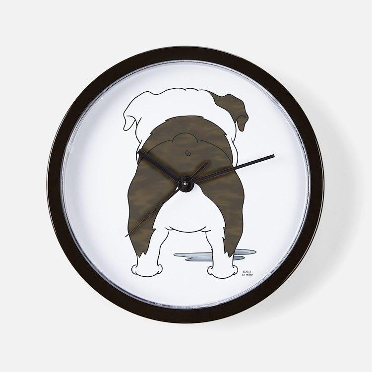Big Butt Bulldog Wall Clock